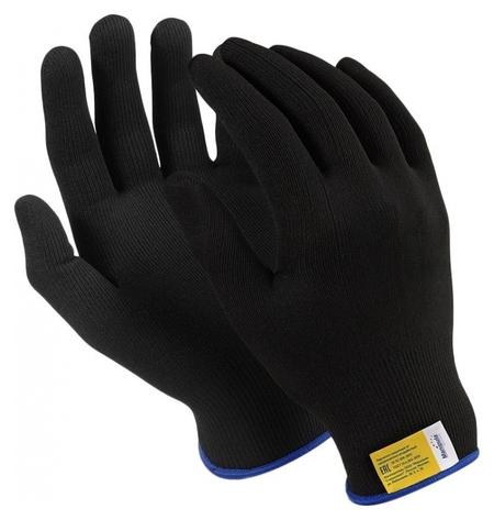 Перчатки защитные нейлон Manipula микрон блэк(Tny-25/mg102) 10 п/уп р7  Manipula