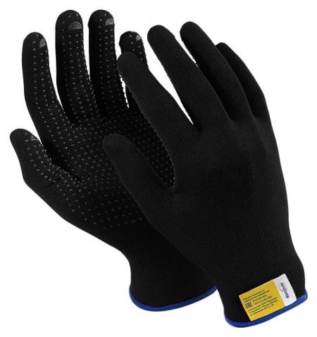Перчатки защитные нейлон/пвх Manipula микрон блэк(Tng-28/mg112) 10 п/уп р7  Manipula
