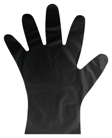 Перчатки одноразовые тпэaviora цв. черный (402-884) 100 шт/упр.l  Aviora