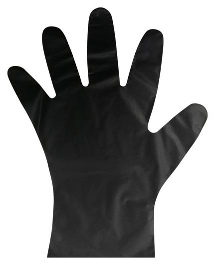 Перчатки одноразовые тпэaviora цв. черный (402-883) 100 шт/упр.м  Aviora