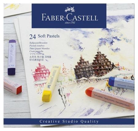 Пастель Faber-castell Soft Pastels 24 цв., картон. упак, 128324  Faber-castell