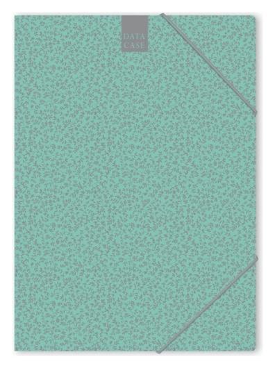 Папка картонная на резинке А4 Attache Fleur мята  Attache