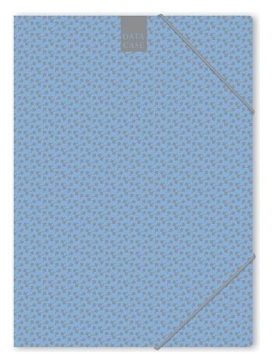 Папка картонная на резинке А4 Attache Fleur лазурь Attache