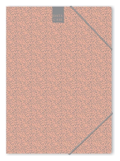Папка картонная на резинке А4 Attache Fleur коралл  Attache