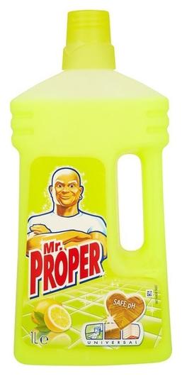 Чистящее средство универсальное Mr. Proper лимон 1л (12шт/уп)  Mr. Proper