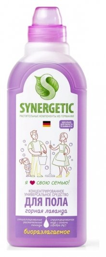 Средство для мытья пола Горная лаванда  Synergetic