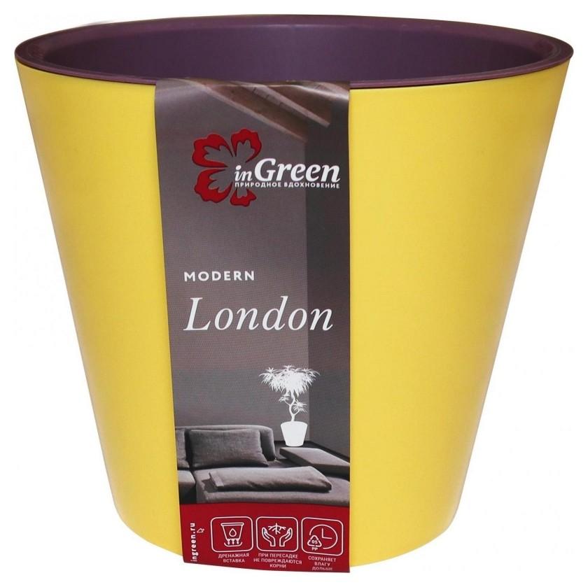 Горшок для цветов London 330 мм 16л на колес груша и слива Ing6207сг  InGreen