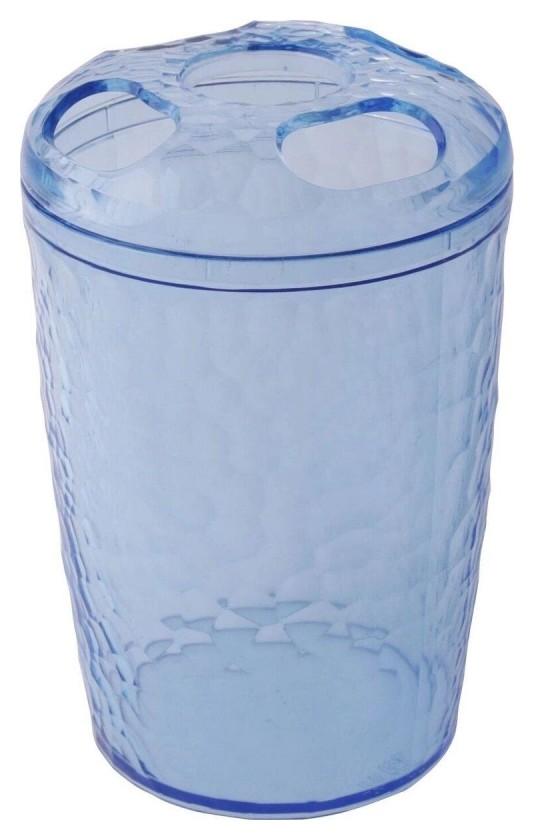 Стакан для зубных щеток Natural Stone голубой прозрачный Bq1214глпр  BranQ