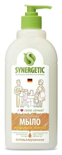 Мыло жидкое Synergetic миндальное молочко 500мл с дозатором  Synergetic