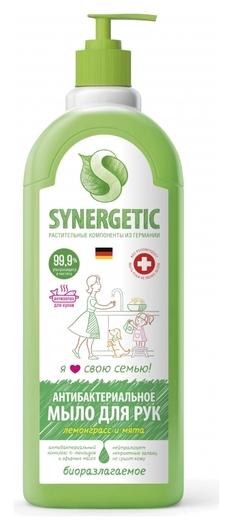 Мыло жидкое Synergetic антибактериальное, лемонграсс и мята 1л дозатор  Synergetic