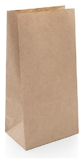 Пакет коричневый, крафт-бумага, 120х80х240 мм, 1000шт/уп NNB