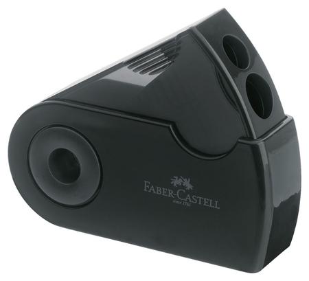 Точилка Faber-castell Sleeve, 2 отверстия, контейнер, черная  Faber-castell