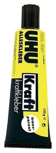 Клей UHU Kraft Power универсальный,контактный,прозрачный, 125г (45065)  Uhu
