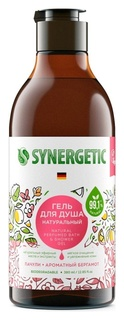 Гель для душа Synergetic пачули и ароматный бергамот, 380мл  Synergetic