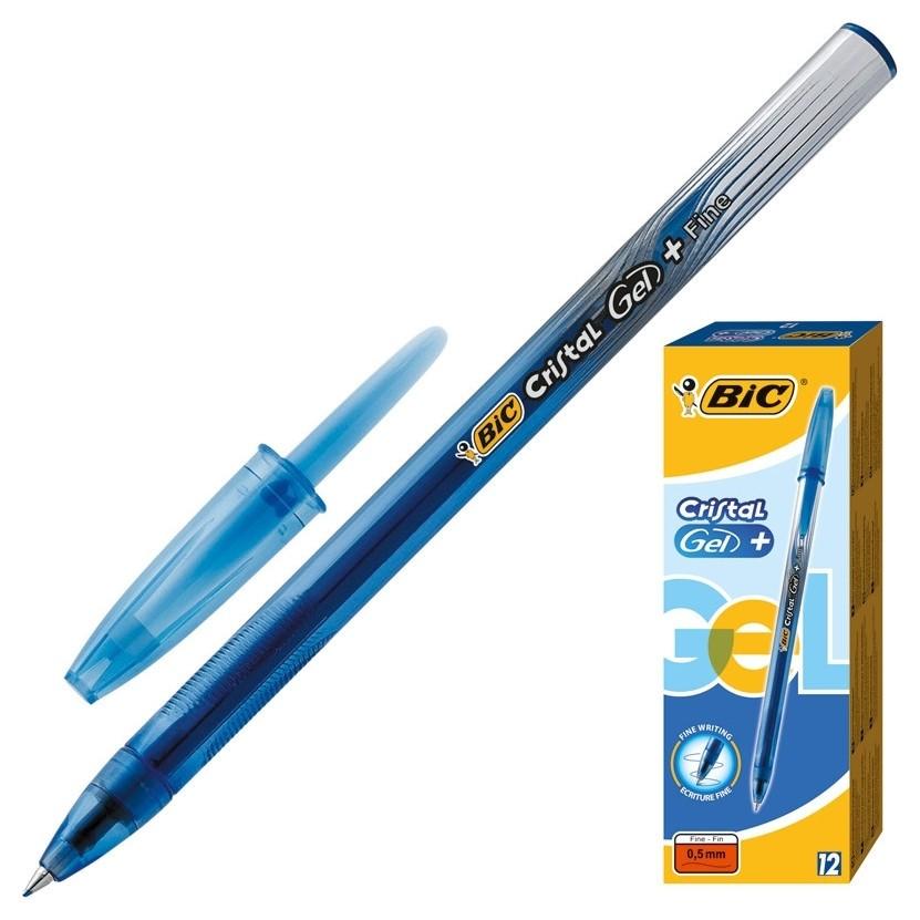 Ручка гелевая BIC Cristal синяя 843885  BIC