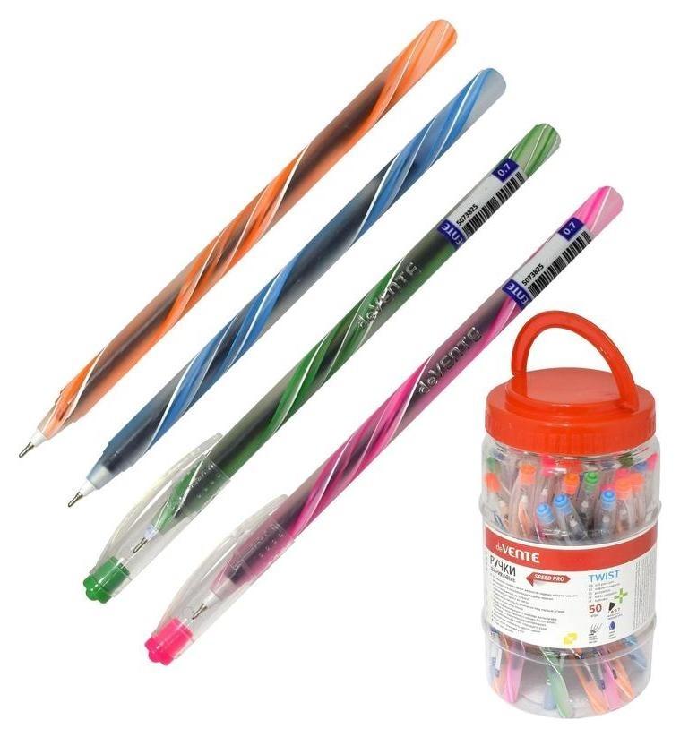 Ручка шариковая D=0,7мм C масл черн игольч узел полупр корп синяя 5073825  deVente