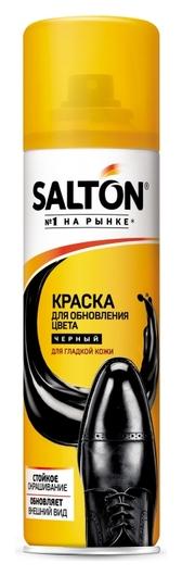 Краска для обуви из гладкой кожи черный  Salton