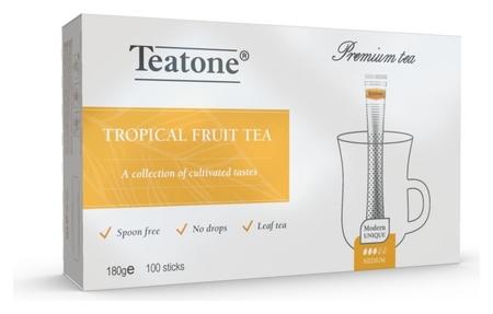 Чай черный с ароматом тропических фруктов в металл.стике, 100 шт./уп1247 Teatone
