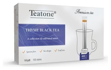 Чай аромат чабреца Teatone черный в металл.стике, 100шт/уп. 198  Teatone