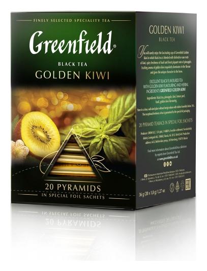 Чай Greenfield черный Golden Kiwi, 20шт/1уп 1157-08  Greenfield