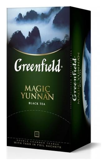 Чай Greenfield черный Magic Yunnan, 25пак/1уп 0356-10  Greenfield