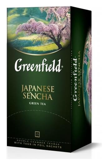 Чай Greenfield зеленый Japanese Sencha, 25пак/1уп 0535-10  Greenfield