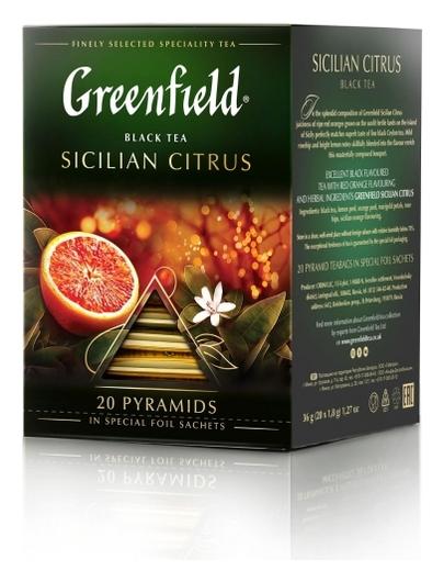 Чай Greenfield черный Sicilian Citrus, 20шт/1уп 1158-08  Greenfield