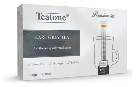 Чай аромат бергамота Teatone черный в металл.стике, 100шт/уп. 198  Teatone
