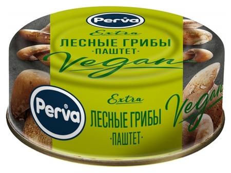 Консервация паштет с лесными грибами Perva Extra ключ, 100г  Perva