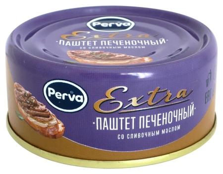 Мясные консервы паштет печеночный со слив. маслом Perva Extra ключ, 100г  Perva