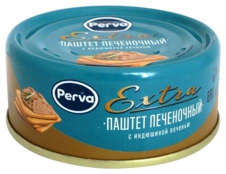 Мясные консервы паштет с индюшиной печенью Perva Extra ключ, 90г  Perva