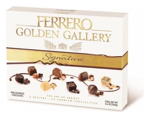 Конфеты хрустящие Ferrero Signature Golden Gallery 8 вкусов, 240 гр  Ferrero