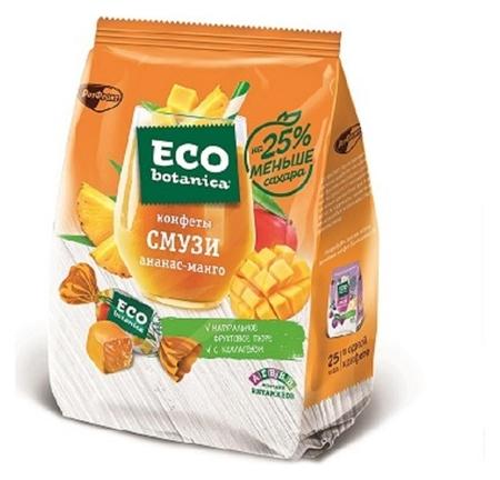 Мармелад конфеты Eco Botanica смузи ананас манго, 150г  Eco botanica