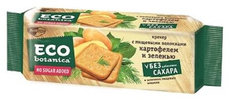Крекер Eco Botanica с пищевыми волокнами,картофелем и зеленью, 175г  Eco botanica