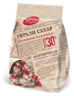 Конфеты красный октябрь батончики украли сахар,170г  Красный октябрь