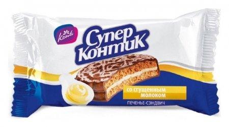 Печенье супер-контик со сгущенным молоком Konti, 100г  Konti