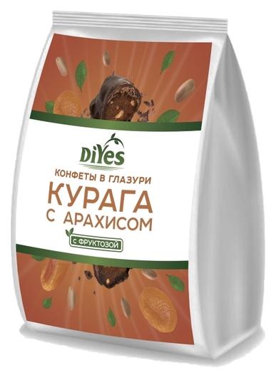 Конфеты фруктовые Diyes курага с арахисом в глазури ,250г  DiYes