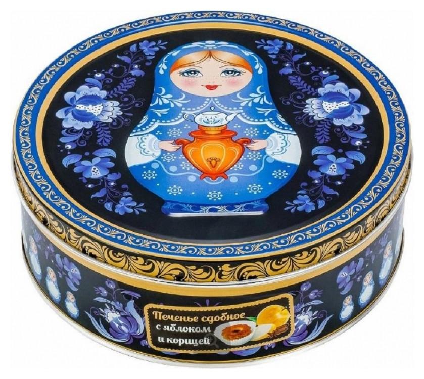 Печенье сладкая сказка сдоб.матрешка яблоко с корицей 400 г  Сладкая сказка