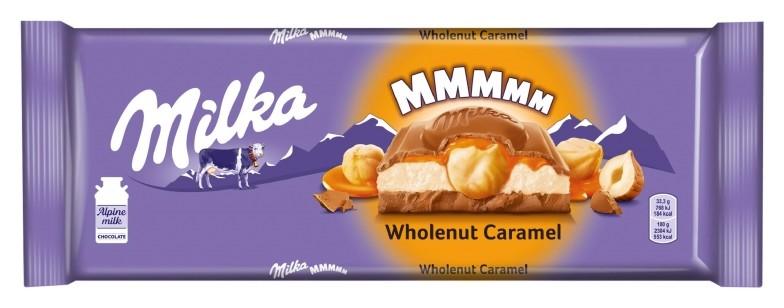 Шоколад Milka молочный с карамельной начинкой и обжар. фундуком, 300гр  Milka