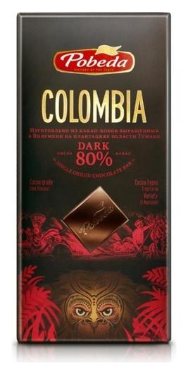 Шоколад победа вкуса горький колумбия 80% какао, 100г  Победа вкуса