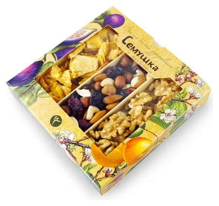 Орехи с кусочками ананасов семушка, 155г  Семушка