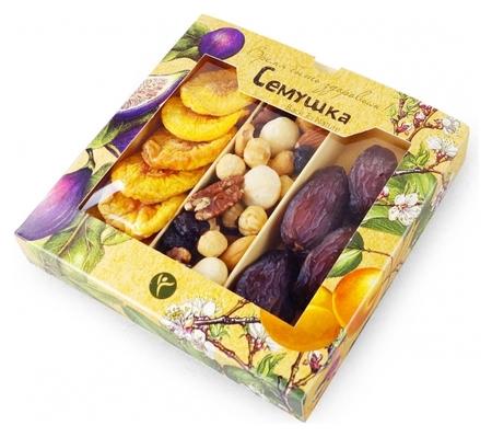 Коктейль смесь орехов с королевскими финиками и персиками семушка, 230г  Семушка