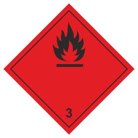 Знак безопасности О3 легковоспламеняющиеся жидкости, 250x250 мм, пленка  Технотерра