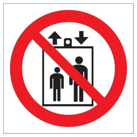 Знак безопасности Р34 запрещ.пользов лифтом д подъема/спуска людей пленк  Технотерра