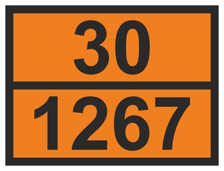 Знак безопасности О12 знак ООН 30/1267. нефт сырая., 300х400 мм, пленка  Технотерра