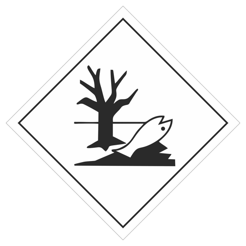Знак безопасности О10 вещества опасн. для окр. среды, 250x250 мм, пленка  Технотерра