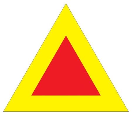 Знак безопасности тихоходное транспортное средство, 350 мм, с/в металл Технотерра