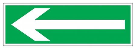 Знак безопасности Е27 напр-е эвак-ции, 150x300 мм, фотолюм. пленка  Технотерра