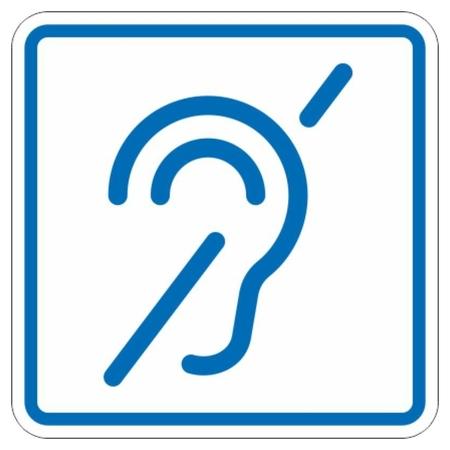 Знак безопасности И14 знак доступности объекта для инвалидов по слуху  Технотерра