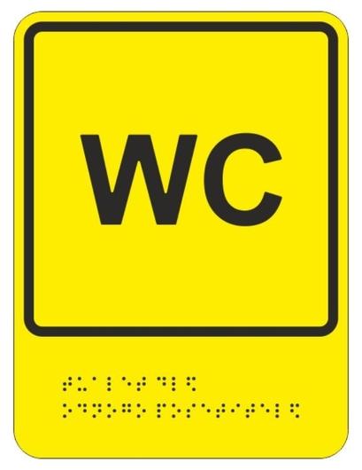 Знак безопасности ТП9 обособленный туалет для одного посетителя  Технотерра